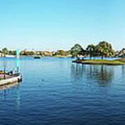 Epcot World Showcase Lagoon Panorama 05 Walt Disney World Art Print