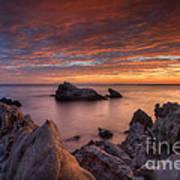 Epic California Sunset Print by Marco Crupi