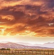 Epic Colorado Country Sunset Landscape Panorama Art Print
