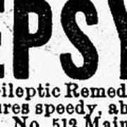 Epilepsy Treatment, 1878 Art Print