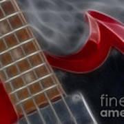 Epiphone Sg Bass-9205-fractal Art Print