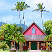 Episcopal Church In Kapaa Art Print