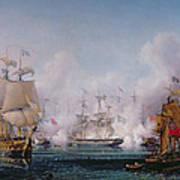 Episode Of The Battle Of Navarino Art Print