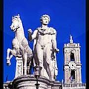 Equestrian Statue At Capitoline Hill Art Print