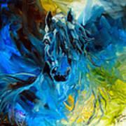 Equus Blue Ghost Art Print by Marcia Baldwin