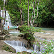 Erawan National Park In Thailand Art Print