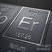 Erbium Chemical Element Art Print