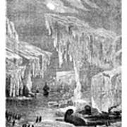 Erebus And Terror In The Ice 1866 Art Print