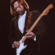 Eric Clapton Painting Art Print