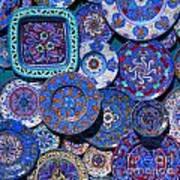 Erice Italy Plates Blue Art Print