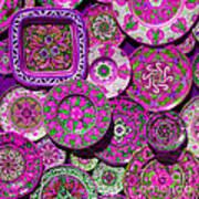 Erice Sicily Plates Pink Art Print
