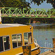 Erie Canal At Pittsford Ny Art Print