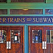 Erie Lackawanna Terminal Doors Hoboken Art Print