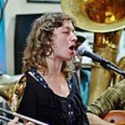 Erika Lewis With Tuba Skinny Art Print