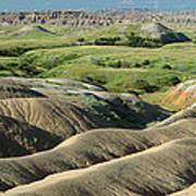 Eroded Landscape Badlands Np Art Print