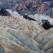 Erosional Landscape - Zabriskie Point Art Print