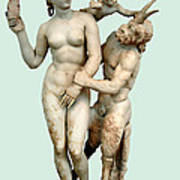 Aphrodite, Pan And Eros Art Print