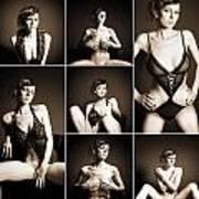 Erotic Beauty Collage 14 Art Print