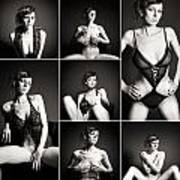 Erotic Beauty Collage 15 Art Print