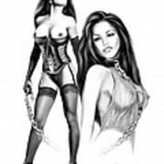 Erotic Lesbian Pet By Spano Art Print