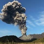 Eruption Of Sakurajima Volcano Art Print