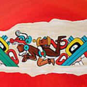 Escaping The Mayan Underworld Art Print