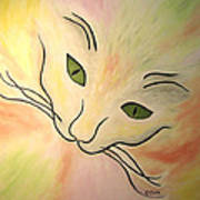 Essence Of Cat Art Print
