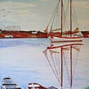 Essex Harbor Reflections Art Print