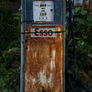 Esso Gas Pump Art Print