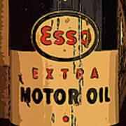 Esso Motor Oil Can Art Print