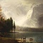 Estes Park Colorado Whytes Lake Art Print by Albert Bierstadt