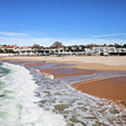 Estoril Beach In Portugal Art Print