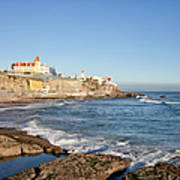 Estoril Coastline In Portugal Art Print