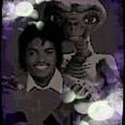 Et And Michael Jackson Photo  Art Print
