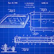 Etch A Sketch Patent 1959 - Blue Art Print