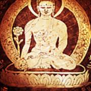 Etched Buddha  Art Print