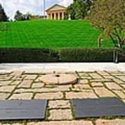 Eternal Flame At Kennedy Resting Place Art Print