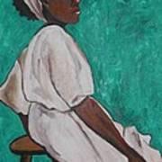 Ethiopian Woman In Green Art Print