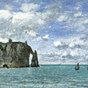 Etretat. The Cliff Of Aval Art Print