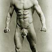 Eugen Sandow In Classical Ancient Greco Roman Pose Art Print by American Photographer