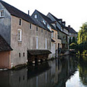 Eure River And Old Fulling Mills In Chartres Art Print