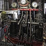 Eureka Ferry Steam Engine Controls - San Francisco Art Print