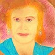 Eva Peron Orange Art Print