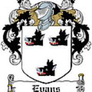 Evans Coat Of Arms Irish Art Print