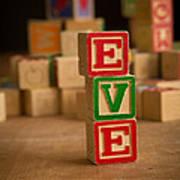Eve - Alphabet Blocks Art Print