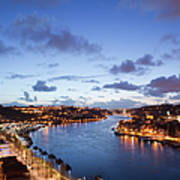 Evening At Douro River In Portugal Art Print