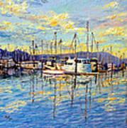 Evening At Sausalito Art Print