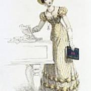 Evening Dress, Fashion Plate Art Print