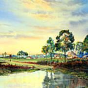 Evening Falls Art Print