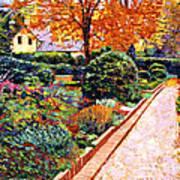 Evening Garden Stroll Art Print by David Lloyd Glover